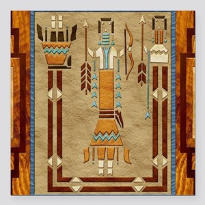 Harvest Moons Navajo Sand Painting Square Car Magn