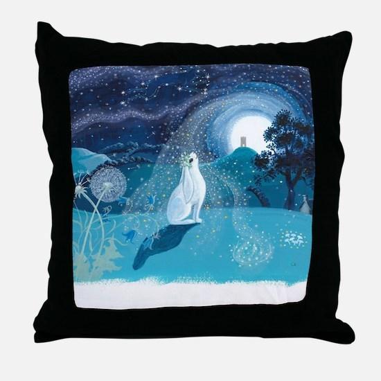 Cute Rabbit art Throw Pillow