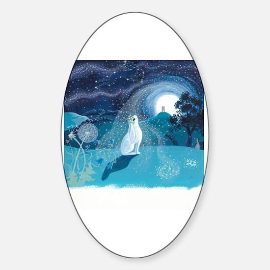 Cute Magical fairy Sticker (Oval)