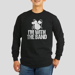 Funny Drummer Long Sleeve Dark T-Shirt