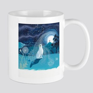Moon Gazing Hare Mugs