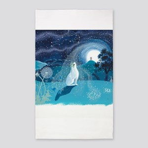 Moon Gazing Hare Area Rug