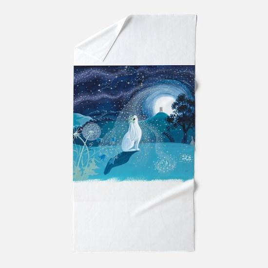 Moon Gazing Hare Beach Towel