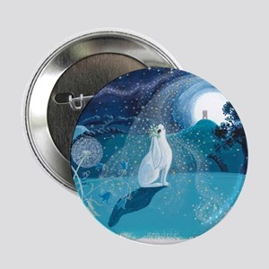 "Moon Gazing Hare 2.25"" Button"