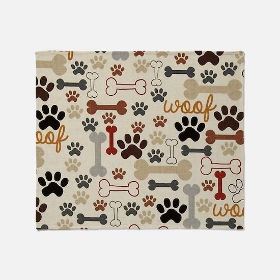 Cute Dog bone Throw Blanket
