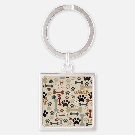 Unique Dog Square Keychain