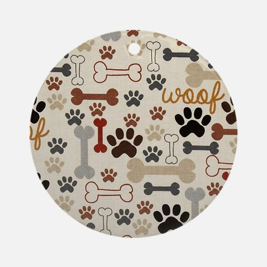 Cute Dog bone Round Ornament