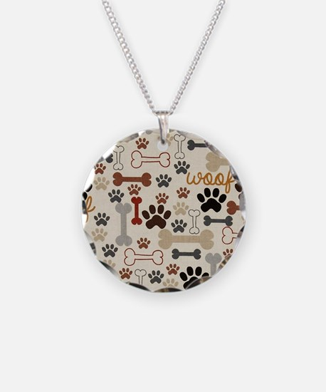 Unique Dog Necklace Circle Charm