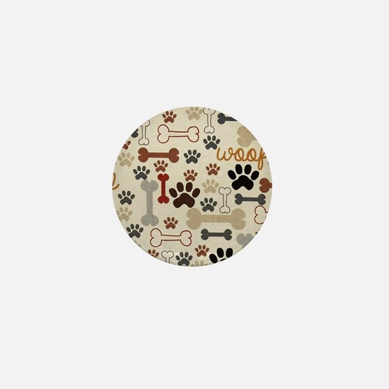 Cute Dog bone Mini Button