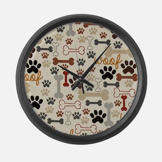 Cute Dog Large Wall Clock