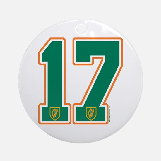 IE Ireland(Eire/Erin) Hockey 17 Ornament (Round)