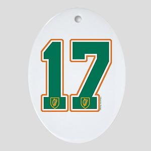 IE Ireland(Eire/Erin) Hockey 17 Oval Ornament