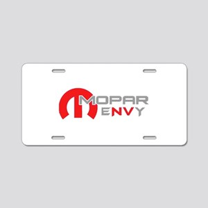 Red Envy Aluminum License Plate