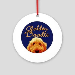 Golden Doodle Round Ornament