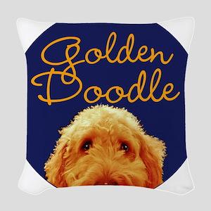 Golden Doodle Woven Throw Pillow