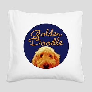 Golden Doodle Square Canvas Pillow