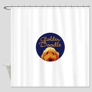 Golden Doodle Shower Curtain