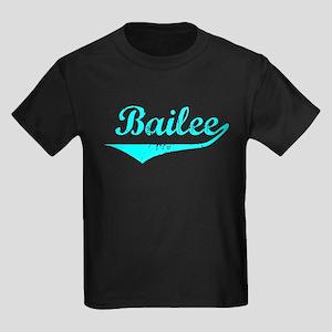 Bailee Vintage (Lt Bl) Kids Dark T-Shirt