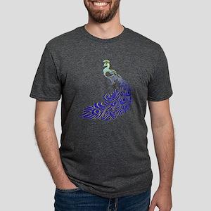 Aqua Blue Peacock T-Shirt