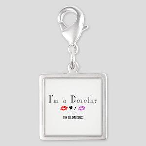 I'm A Dorothy Silver Square Charm
