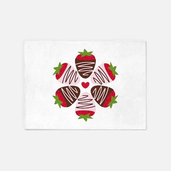 Chocolate Strawberries 5'x7'Area Rug