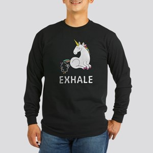 Exhale unicorn Long Sleeve T-Shirt