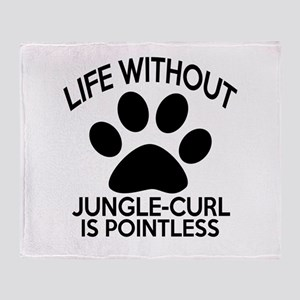 Life Without Jungle-curl Cat Designs Throw Blanket