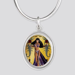 Beautiful egyptian women with scorpion Necklaces