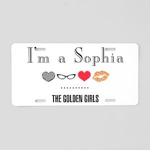 I'm A Sophia Aluminum License Plate
