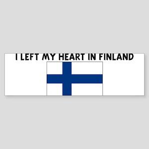 I LEFT MY HEART IN FINLAND Bumper Sticker