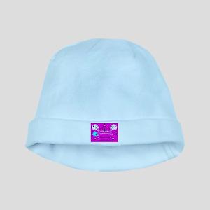 pink ouija baby hat