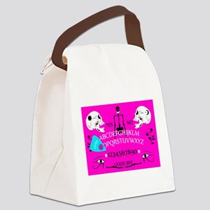 pink ouija Canvas Lunch Bag