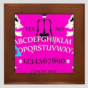 pink ouija Framed Tile