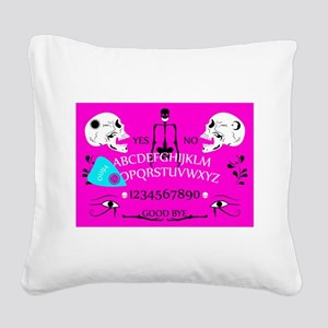 pink ouija Square Canvas Pillow