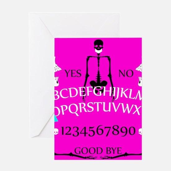pink ouija Greeting Cards