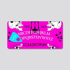 pink ouija Aluminum License Plate