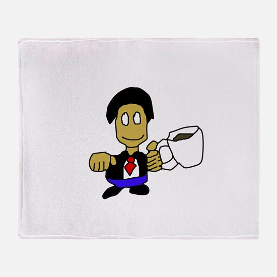 I Like Coffee Throw Blanket