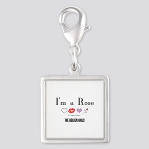 I'm A Rose Silver Square Charm