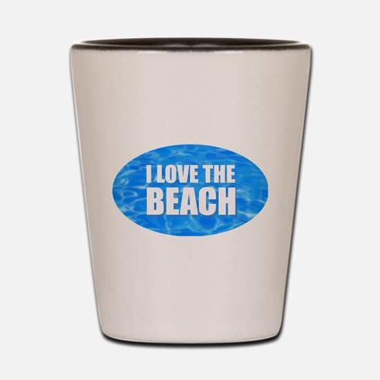 I Love the Beach Shot Glass