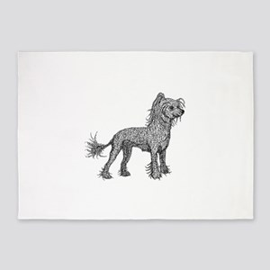Chinese Crested Dog 5'x7'Area Rug