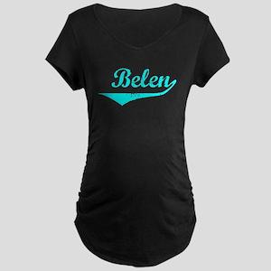 Belen Vintage (Lt Bl) Maternity Dark T-Shirt