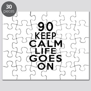 90 Keep calm Life Goes On Puzzle