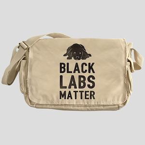 Black Labs Matter Messenger Bag