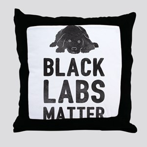 Black Labs Matter Throw Pillow