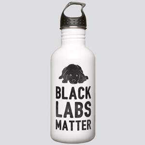 Black Labs Matter Water Bottle