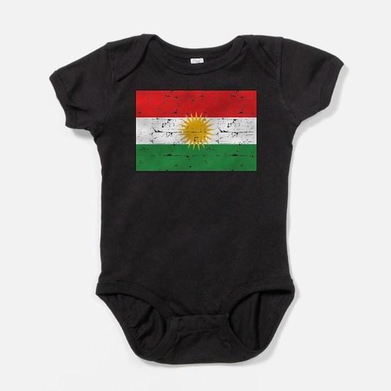 Kurdish Flag designs Baby Bodysuit
