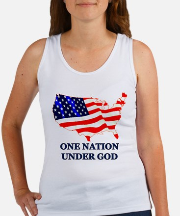 """One Nation, Under God"" Women's Tank Top"