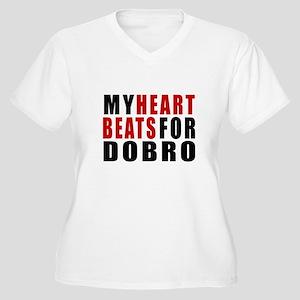 My Heart Beats Fo Women's Plus Size V-Neck T-Shirt
