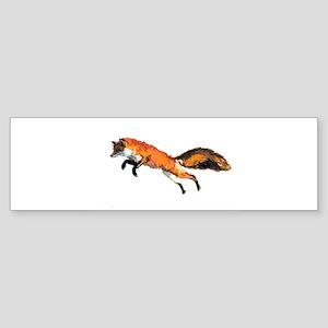 Watercolor fox Bumper Sticker