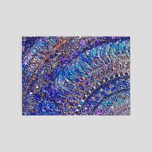 Midnight Jewel Mandala 5'x7'Area Rug